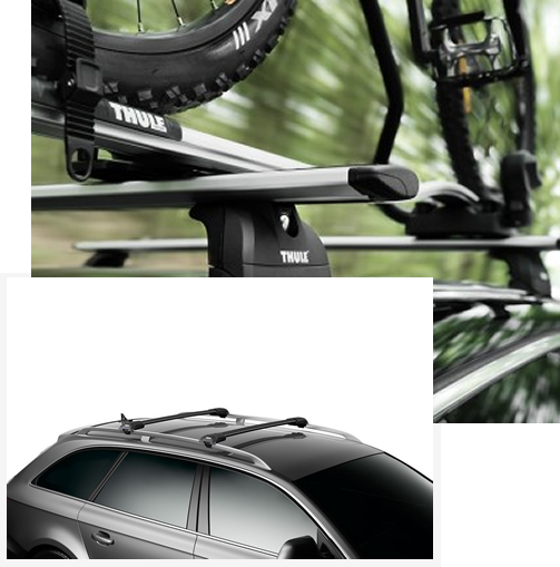 Thule roof bars on cars